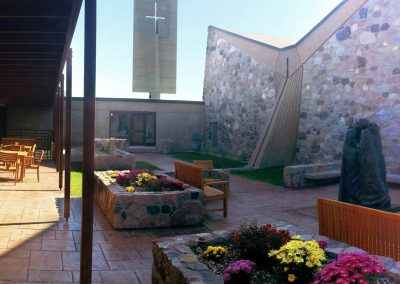 University of Mary Chapel Courtyard